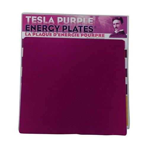 Plaque d'énergie pourpre - Tesla - grand format (20 cm x 20 cm)