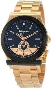 Ferragamo Men's F62LDT5219 S080 1898 Gold Plated Dual Time Watch image
