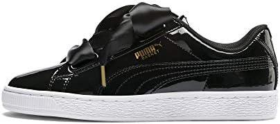 PUMA Basket Heart Patent Wn'S, Zapatillas Mujer, Negro Black Black, 38.5 EU