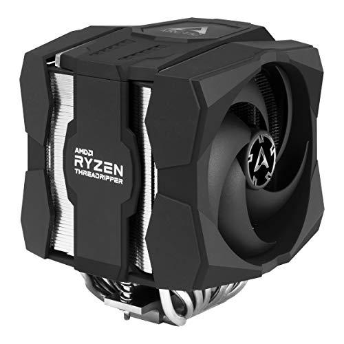 ARCTIC Freezer 50 TR - Raffreddamento CPU a Doppia Torre per AMD Ryzen Threadripper con A-RGB, Due Ventole di Pressione Ottimizzate, con 8 Tubi di Calore per Massime Prestazioni, Nero