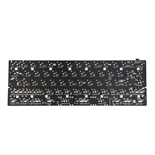 GH60 64 Minila PCB voll programmierbarer Underglow RGB Typ C Stecker für DIY mechanische Tastatur Poker Faceu HHKB Unterstützung LED (Schwarz QMK Underglow RGB)