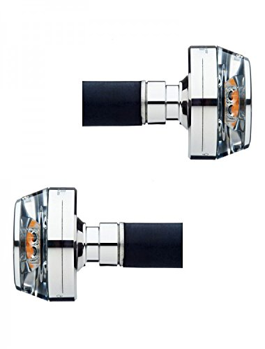 """Motogadget MG6002013/MG6002014 - m-Blaze Disc LED Bar End Turn Signal, Polished, PAIR for 7/8"""" and 1"""" Bars"""
