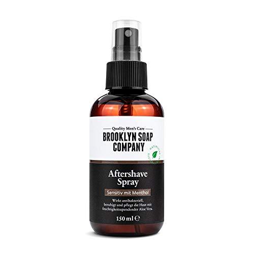 Brooklyn Soap Company Natürliche männerpflege: aftershave spray - 100ml beruhigt die haut und wirkt antibakteriell natürliche pflege der brooklyn soap company ® geschenkidee als geschenk für männer