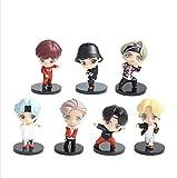 Juego De 7 Minifiguras De Vinilo BTS con Jin V Jimin RM Y J Hope K Pop Merch Figuras Coleccionables para Tus Amigos Nieta Hermana Novia Fans