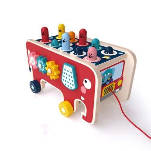 Lihgfw DREI-in-One-Elefant, der Hamster-Baby-Spielzeug-Holzspielzeug-Spielzeug-Baby-frühzeitiges Bildungs-Erleuchtung 1-10 Jahre alt Jungen und Mädchen aus Holz klopfen Holzhamster