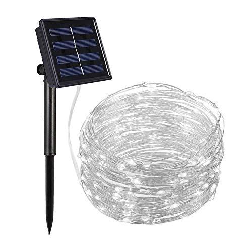 Innersetting Christmas Start Lights, 200 LED 22m Solar Copper Wire String Lamp Garden Luz decorativa (blanco)