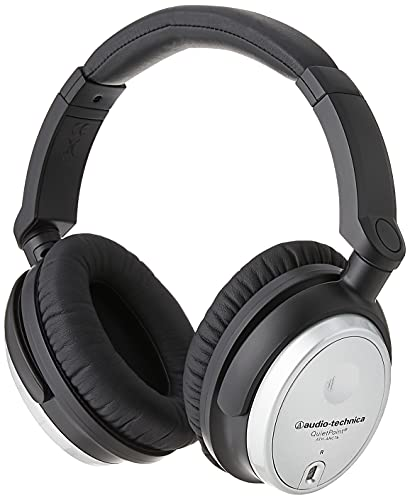 Audio-Technica ATH-ANC7b-SViS QuietPoint Noise-Cancelling Headphones with In-Line Mic & Control