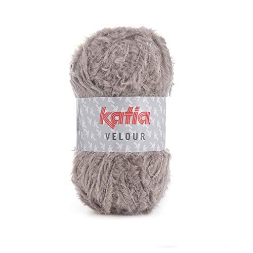 BEIGE 150 m Wolle 51 VELOUR von Katia - 100 g // ca