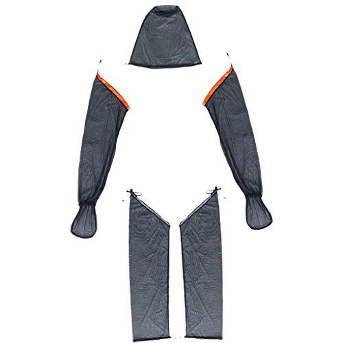 Non-Brand Moustiquaire Extérieure Maille Guêpe Moustique Tête Bras Protecteur De Jambe Costume De Vêtements De Pêche - M