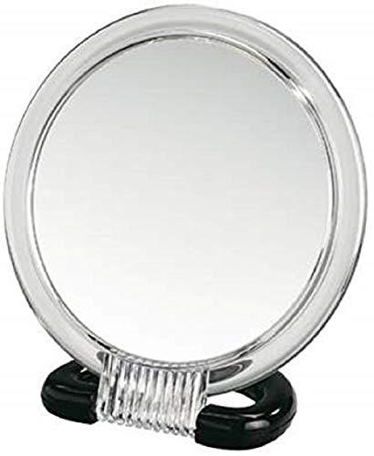 WENKO Miroir cosmétique à poser et mural, surface de miroir ø 12.5 cm 300 % grossissement, Plastique, 15.5 x 17 x 7.5 cm, Transparent