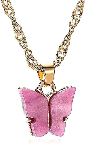 N-G Necklace Butterfly Necklaces for Women Girls Pearl Butterfly Pendant Necklace Elegant Choker Gold Choker Jewelry