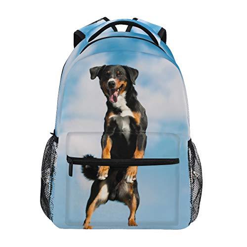 Irud Appenzeller Sennenhund Hunde Rucksack Schultertasche Schultasche Reise Outdoor Rucksack Casual Rucksack Wandern für Jungen Mädchen