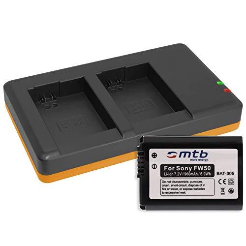 Batería + Cargador Doble (USB) para Sony NP-FW50 / RX10 II, III/Alpha...