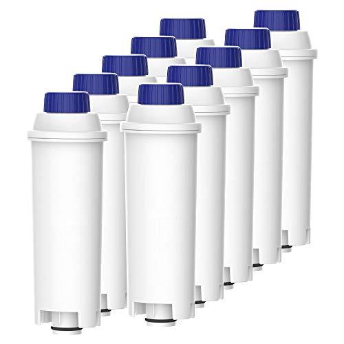 Waterdrop TÜV SÜD Zertifizierte Wasserfilter, Kompatibel mit DeLonghi Kaffeevollautomat ECAM, Eletta, Dinamica, DLSC002, Magnifica, ETAM Autentica und Verschiedener Modelle von Esam (10er Packungen)