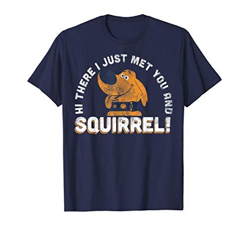 Disney Pixar UP Dug Just Met and SQUIRREL! Graphic T-Shirt T-Shirt