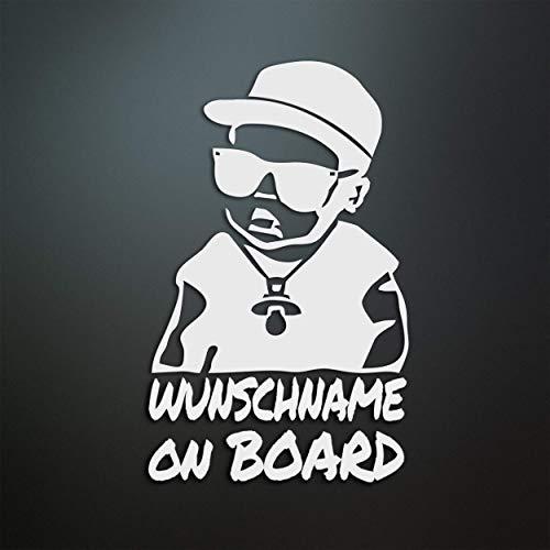 Baby on Board personalisiert - Wunschname/Farbe/Schriftart - für Auto/Tuning/JDM/Motorrad - Oil-Slick