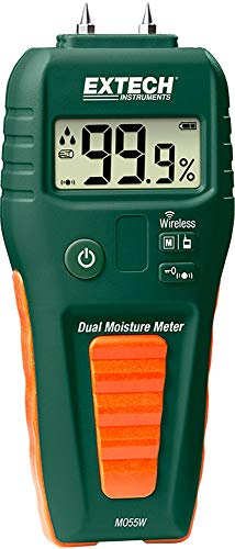 Extech MO53 Pinless Moisture Meter, for Non-Invasive Measurements on Wood and Building Materials