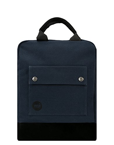 Mi-Pac - Mochila de Lona, Color Azul y Negro