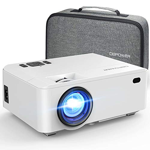 DBPOWER RD-820 Video Projector with Carry Case, 5500L Full HD 1080P and 200