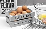 Wooden Egg Crate in Light Dove Grey. Vintage Style Egg Basket Egg Cabinet