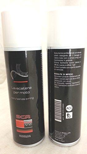 Spray nettoyant pour nettoyage de chaîne moto avec ou sans joints toriques de transmission
