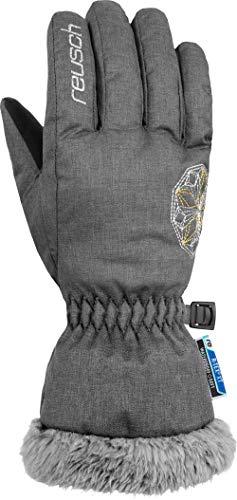Reusch Marina R-TEX XT - Guanti da ragazzo, colore grigio chiaro/argento/oro, 5,5