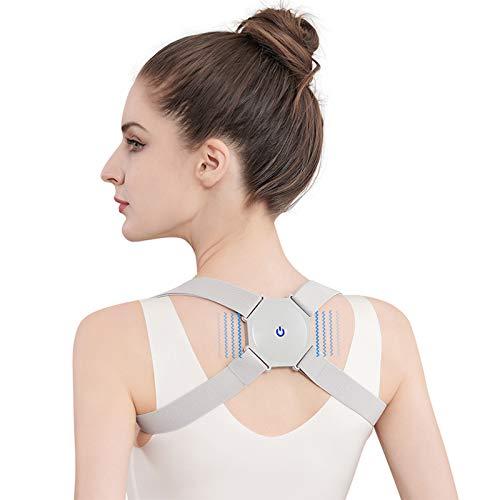 Smart Posture Corrector for Women Men Kids - Adjustable Back Straightener with Intelligent Sensor Vibration Reminder, Providing Pain Relief from Neck, Back and Shoulder