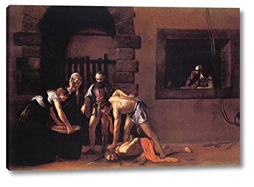 "Beheading of Saint John The Baptist by Michelangelo Merisi Da Caravaggio - 14"" x 20"" Gallery Wrap Canvas Art Print - Ready to Hang"