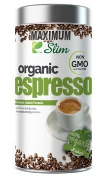 MAXIMUM SLIM Gourmet ESPRESSO: - 100% Arabica Coffee, (Non GMO) Stimulates KETOSIS, Boosts your ENERGY & FOCUS. - Formulated with Essential Vitamins and Natural Herbal Extracts