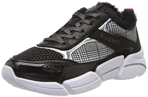 bugatti Damen 431668035769 Sneaker, Schwarz (Black/Multicolour 1081), 39 EU
