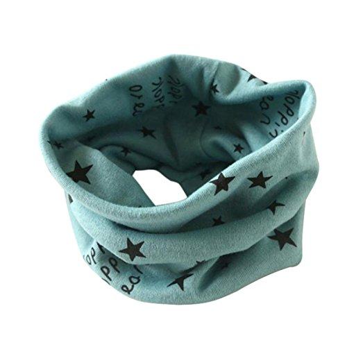 Longra Automne Hiver bébé Garçons Filles Collier Coton O Anneau Écharpe Neck 40 * 37cm pour 2 à 10 Ans (Vert)