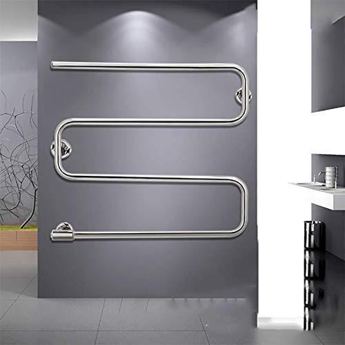 Mobiliario para el hogar Calentador de toallas de acero inoxidable 304 Perchero eléctrico curvo para toallas Calentador de toallas eléctrico montado en la pared El último toallero calefactor de cua
