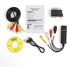 ZengBuks Professional Usb2.0 VHS To DVD Converter Audio Video Capture Kit Scart RCA Cable Kit Set Adecuado para Win 10 - Multi-Color Mixed