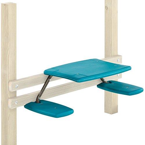 WICKEY Anbau Picknicktisch mit pulverbeschichtetem Metallrahmen zur Montage an Spieltürmen 996x450x256 mm