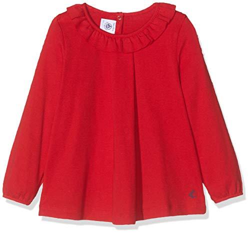Petit Bateau Tee Shirt Ml_4964704, Maglia a Maniche Lunghe Bambina, Rosso (Terkuit 04), 10 (Taglia Produttore: 5anni/110centimeters)