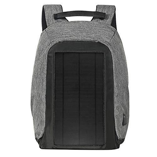 NALEDI Bolsa de carga solar de 40 litros, resistente al agua, panel solar para smartphones y todos los dispositivos USB, compartimento para portátil de 15 pulgadas