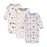XIAN 3 piezas de ropa de dormir para bebé bebé suave de punto algodón ropa de dormir mameluco saco de dormir