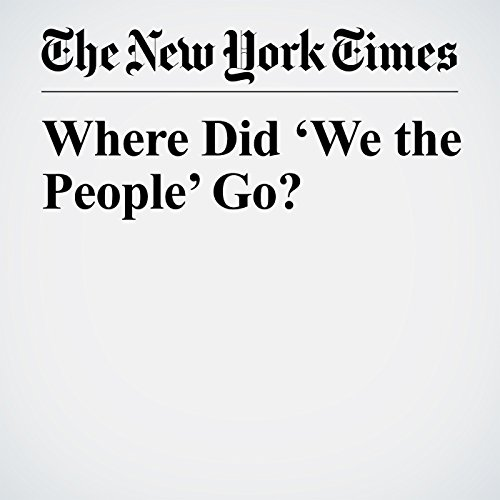 Where Did 'We the People' Go? copertina