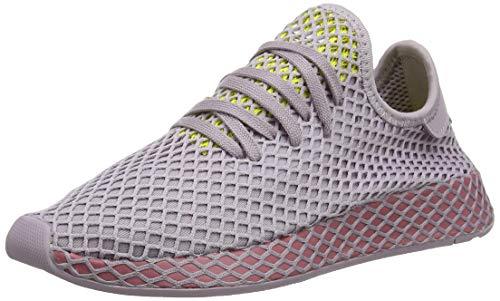 adidas Deerupt Runner W Zapatillas de Running Mujer, Multicolor (Soft Vision/Trace Maroon/Shock Yellow), 39 1/3 EU