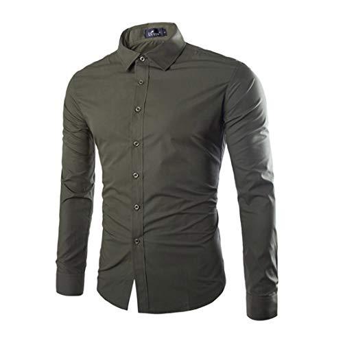 Herren Funky Floral Checked Shirt Lässiges Langarmhemd Button Langarmhemden Printed T-Shirt Kariertes Einfarbiges Hemd,A,XXL