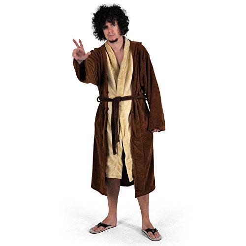 Star Wars - Jedi Meister Bademantel Fleece braun Robe Tunika Kapuze lizenziert