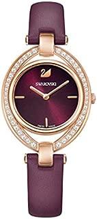 Swarovski Women's Burgundy Dial Leather Band Watch - 5376839