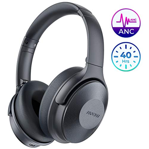 Mpow Active Noise Cancelling Headphones, New Bluetooth Headphones Over Ear, Built-in Mic, Quick Charge, Deep Bass, Wired/Wireless Headset