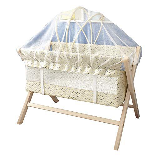 XJJUN-stubenwagen Moskitonetz Faltbar X-Typ Zum Schaukeln Geeignet Baby Ungiftig Kein Geruch Holz Korrosionsbeständig, 2 Arten (Color : Natural-A)