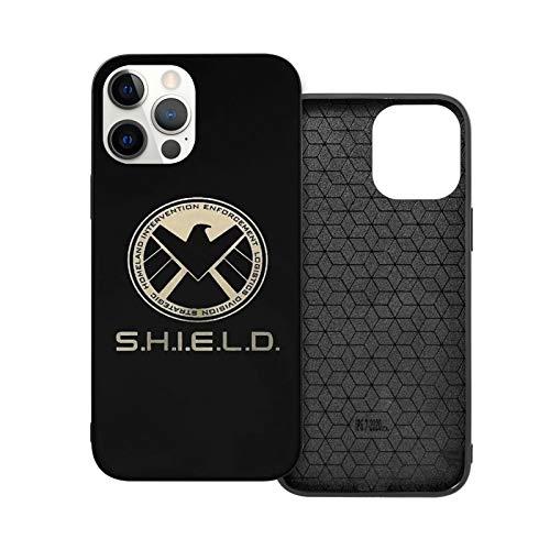 NGNHMFD Agents of Shield 3D Logo Comics Compatible con iPhone 11 Pro Max 12 Pro Max Mini SE 2020 6/6s 7/8 Plus X XS XR Funda Negro Teléfono Funda