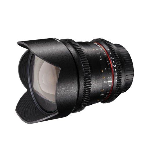 Walimex Pro 10mm 1:3,1 VCSC-Weitwinkelobjektiv für Nikon F Objektivbajonett schwarz (manueller Fokus, für APS-C Sensor gerechnet, IF, Zahnkranz, stufenlose Blendeneinstellung, mit Gegenlichtblende)