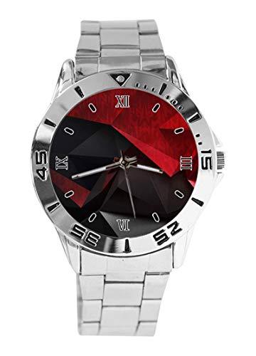 Acer Abstract Quartz Watch - Fashion Women Men Analog Wristwatch/Unisex Stainless Steel Wrist Watch - Silver
