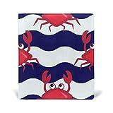 Jolie couverture rigide en similicuir pour livre d'écolier Motif crabe 22,9 x 27,9 cm pour filles et garçons