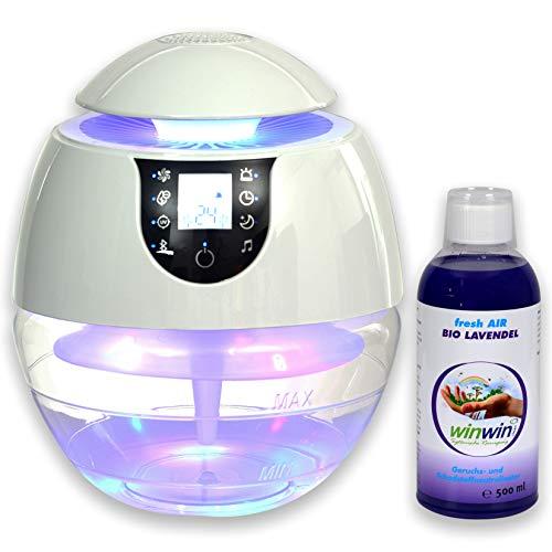 winwin clean Systemische Reinigung winwinCLEAN AIR Blow III I Bluetooth I IONISATOR I LED I 3 LEISTUNGSSTUFEN I INKL. LUFTREINIGUNGS-Konzentrat Fresh AIR \'Lavendel\' 500ML