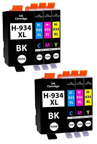 8 Cartucce Per Stampanti con Chip compatibile con HP 934 935 934XL 935XL per HP OfficeJet 6200 6230 6235 6239 6800 6812 6815 6820 6822 6825 6830 6835